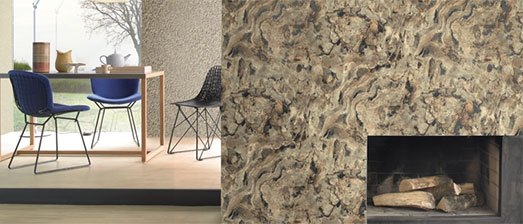 Grey Rock Contemporary Faux Finish Wallpaper R2321