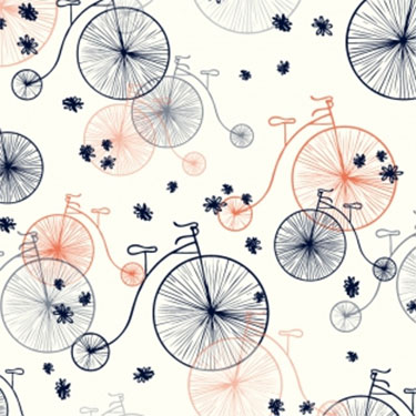Bicycles Contemporary Whimsical Wall Mural M8731