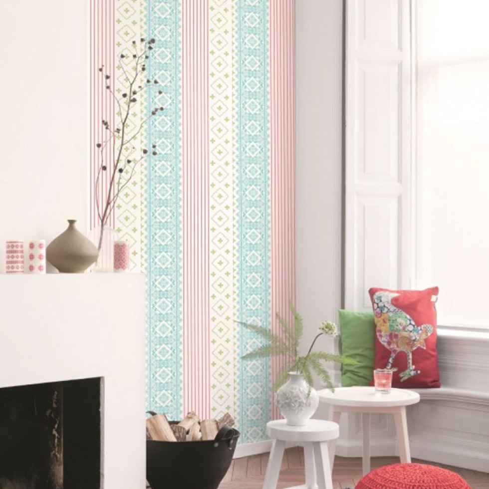 Homey Green Stripe Wallpaper R1030