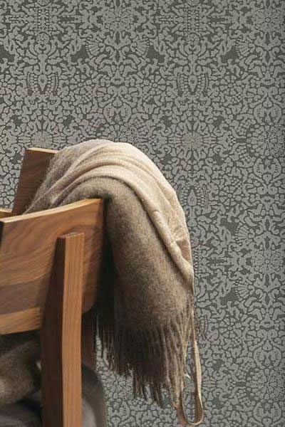 Emerge Dim Contemporary Damask Wallpaper R1179