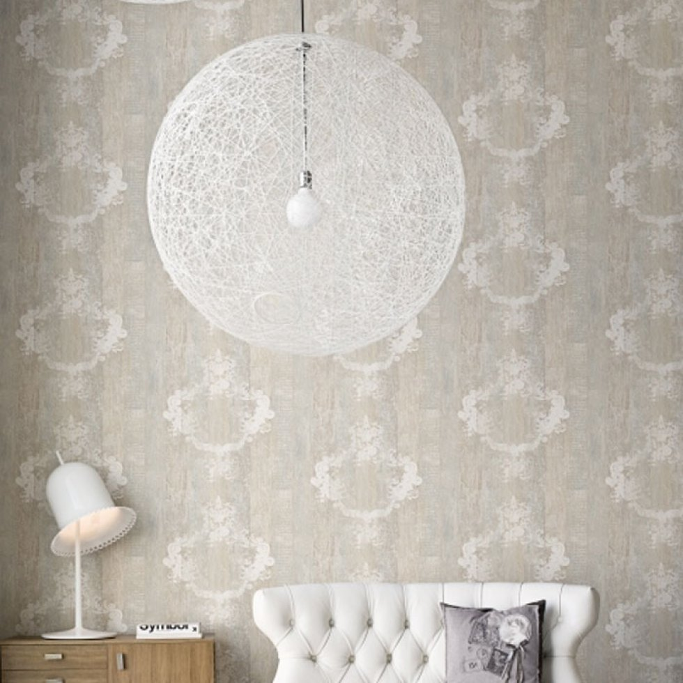 Serenity Mahogany Damask Striped Wallpaper R1368