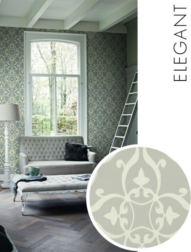 Elegant Silver Wallpaper R1559