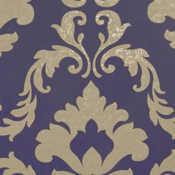 Attractive Byzantium, Purple Damask Wallpaper R1562