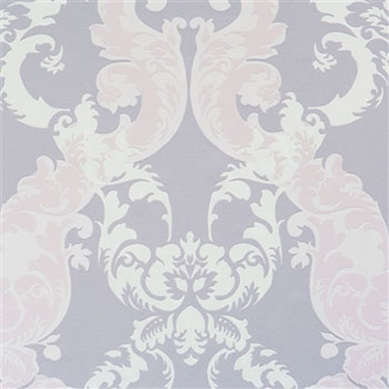 Lilac Damask, Purple Damask Wallpaper R2064
