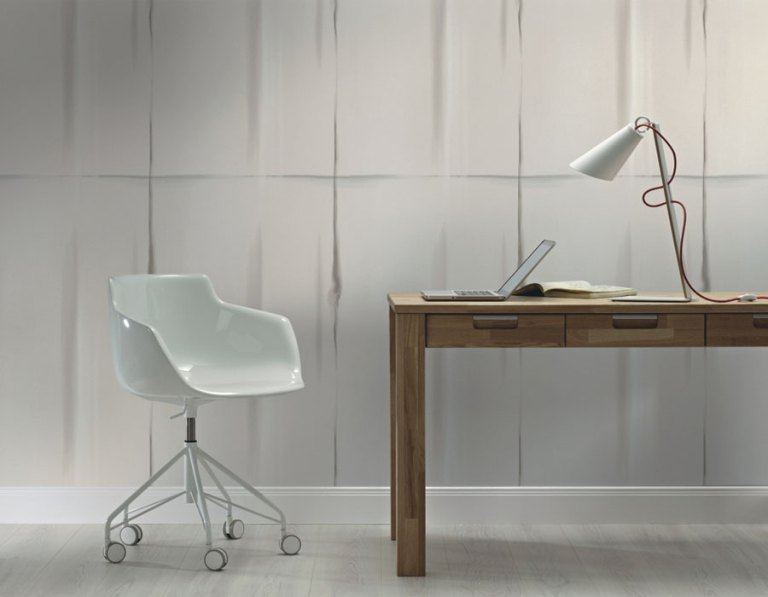 Grey Blocked Home Office Wallpaper R2501