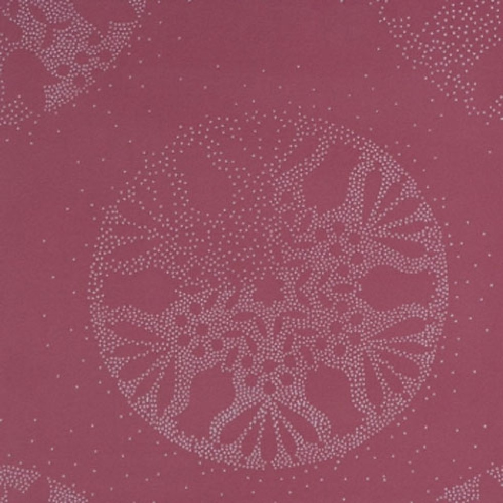 Snowflake Ruby Trendy Wallpaper R1442