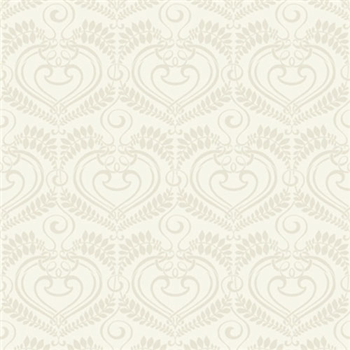 Music Ivory Flocked Wallpaper R1915
