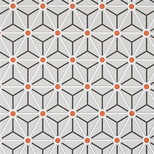 Orange Hexagonal Geometric Wallpaper R2256