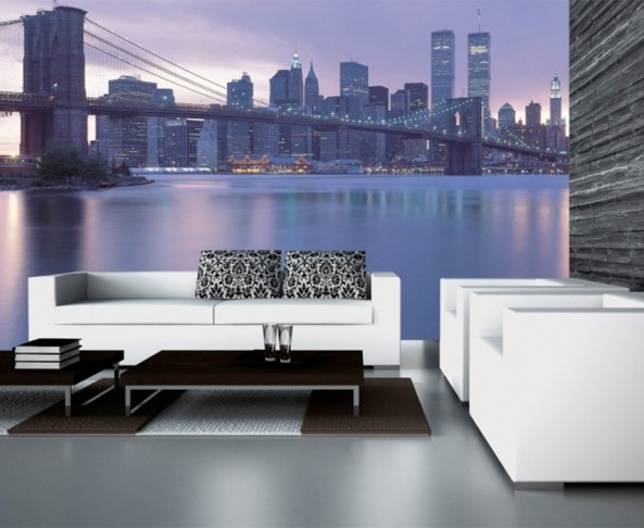 Brooklyn Bridge Digital Wall Mural by Walls Republic M8652