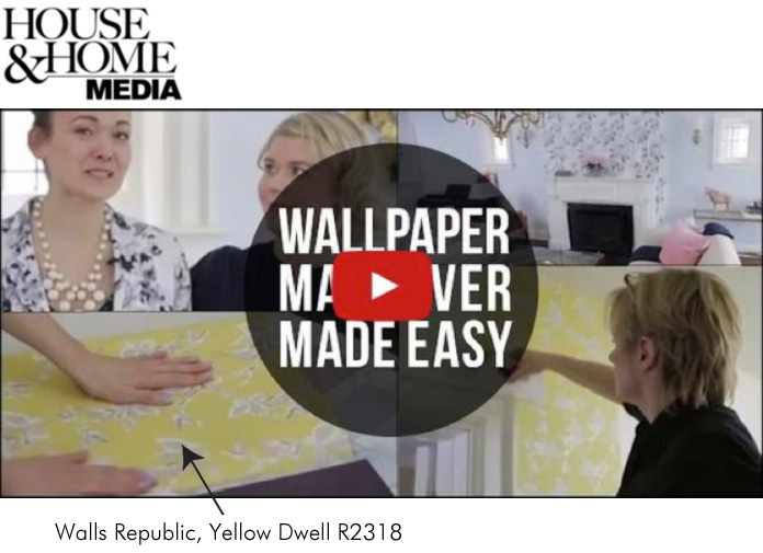 House & Home Magazine Wallpaper Transformation with Walls Republic Wallpaper