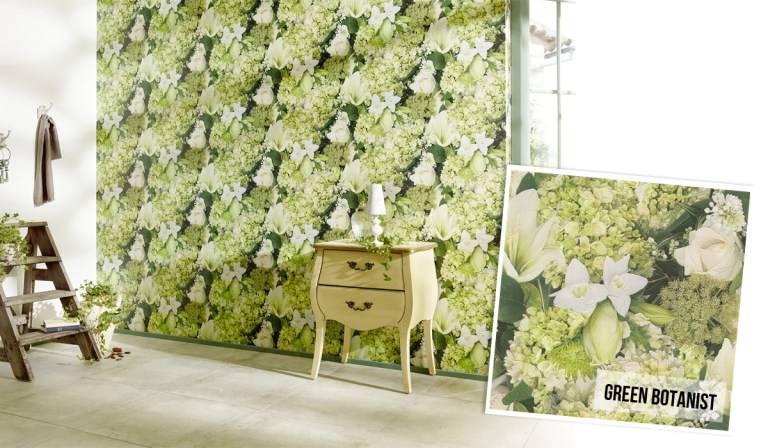 Green Botanist Floral Wallpaper R2950 | Walls Republic