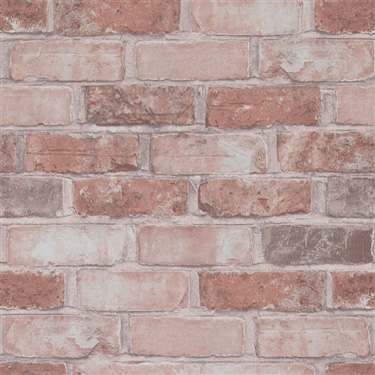 Walls Republic | Marsala Running Brick Contemporary Wallpaper