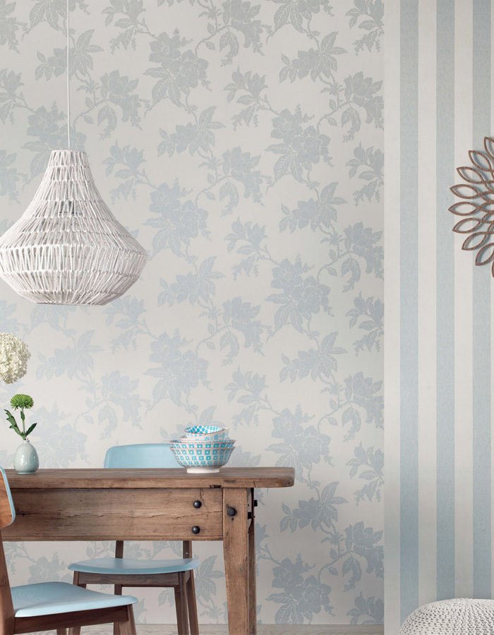 Walls Republic | Duck Egg Gardens Classic Wallpaper R3015
