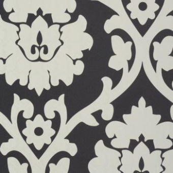 Black and white plush wallpaper by walls republic