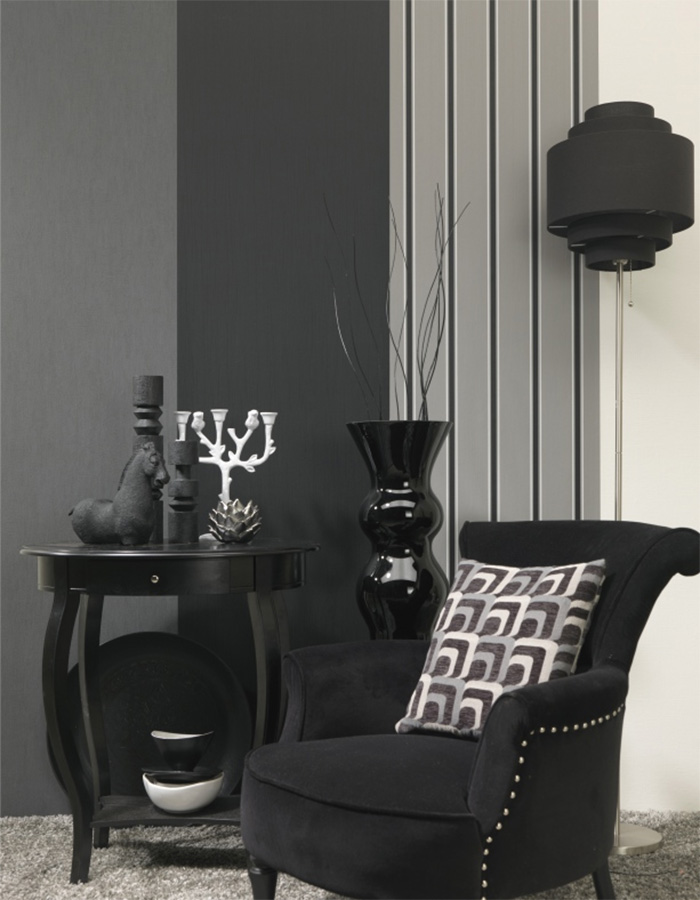 extend black and white striped wallpaper by walls republic