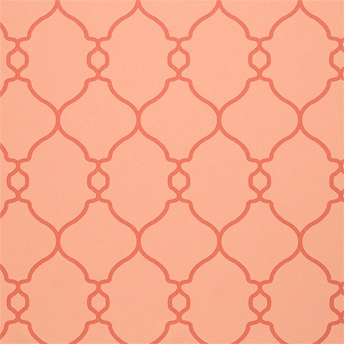 Crisp linework in this coral lattice wallpaper