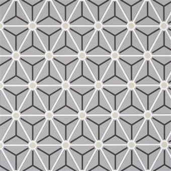 grey hexagonal geometric black and white wallpaper by walls republic