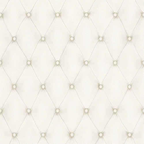 Faux Leather geometric wallpaper in white