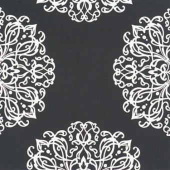 black and whie embellished wallpaper by walls republic