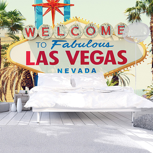 Vegas, anyone? | Welcome to Las Vegas Wall Mural by Walls Republic
