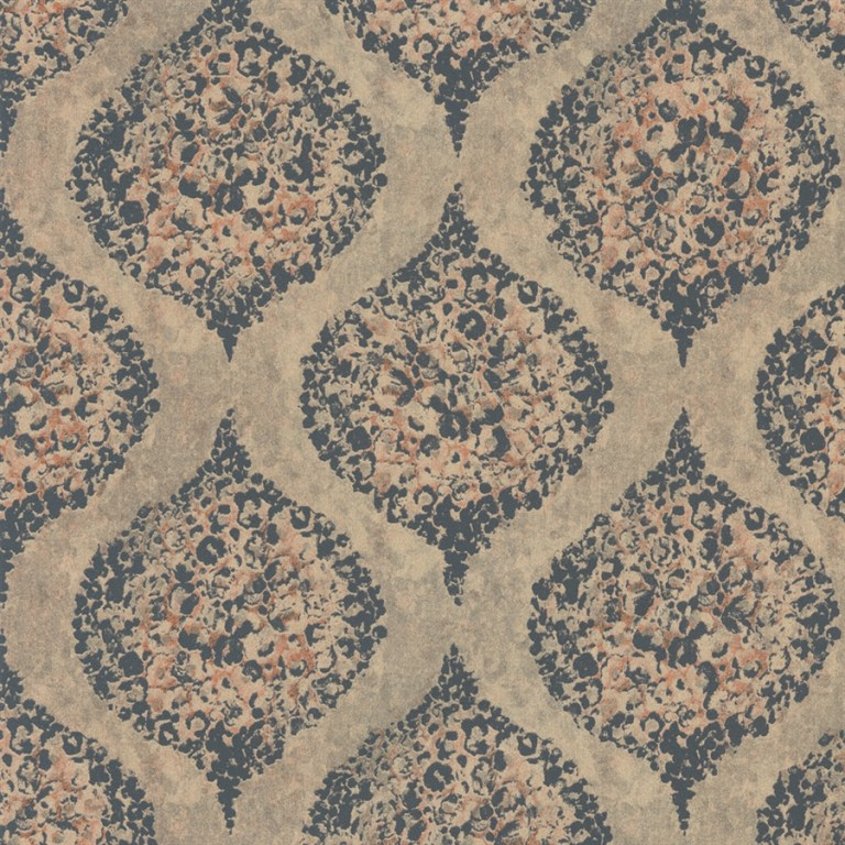 weathered geometric painted lilies wallpaper 2016 trends Walls Republic