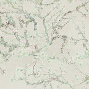 Van Gogh blossoming almond trees hand-painted effect wallpaper | 2016 trends Walls Republic