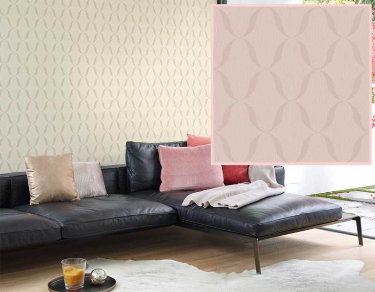 pantone's rose quartz and serenity modern geometric wallpaper by walls republic