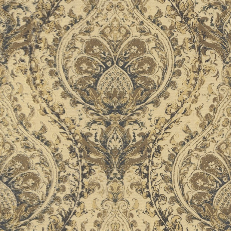 Gold Painted Damask R2684