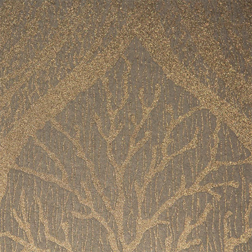Dust of gold on an enchanting leaf patterned wallpaper