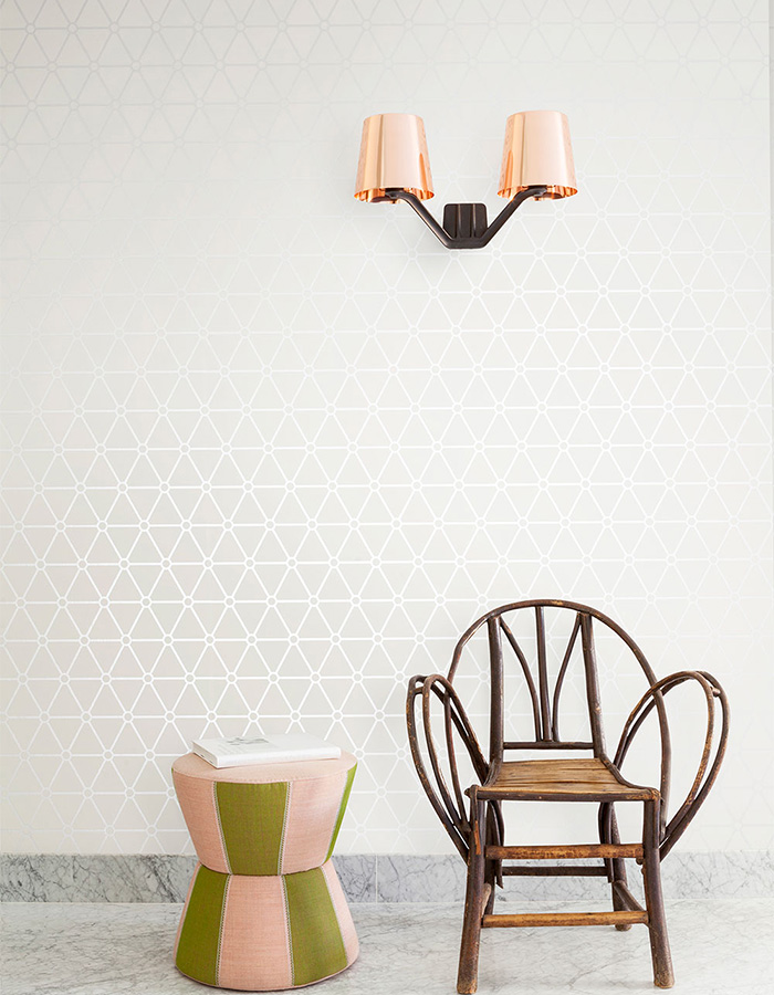 Ivory Hexagonal Wallpaper R2254