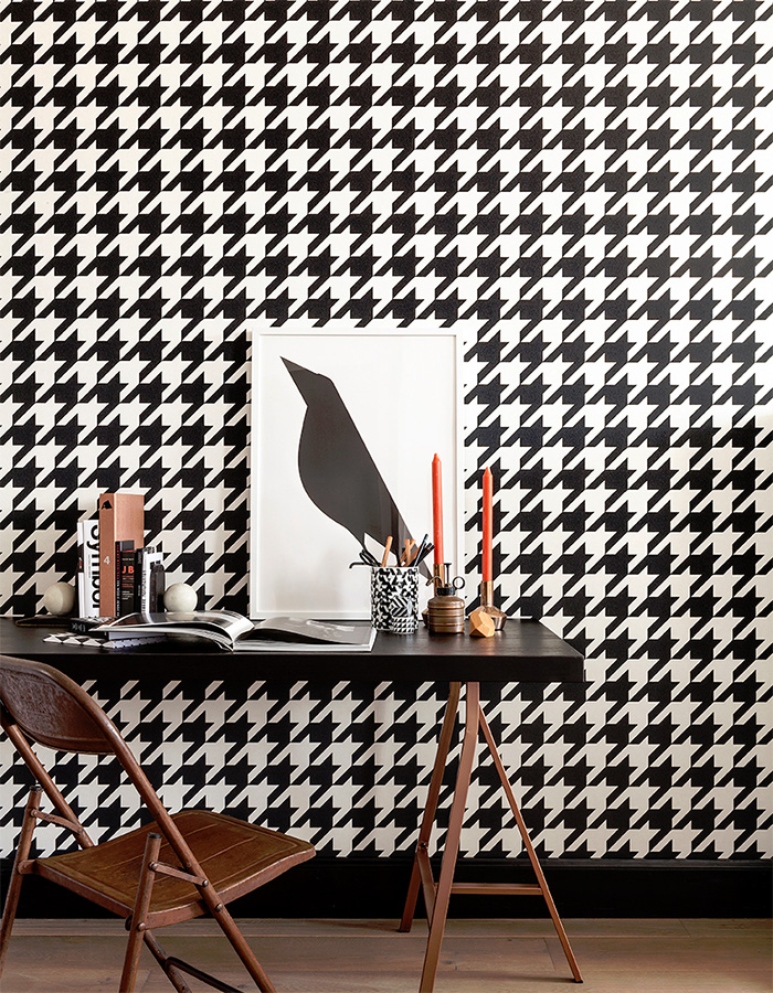 Black & White Dogstooth Wallpaper R2542R2542