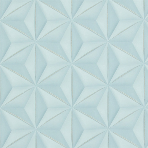 Powder Blue Delusional Geometries Walpaper R2922