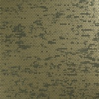 Rustic Metallic Orange Spotted Army Green Wallpaper R3798