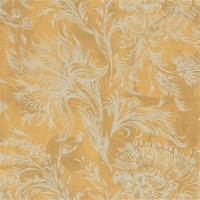 Floating Yellow and White Floral Wallpaper R4484