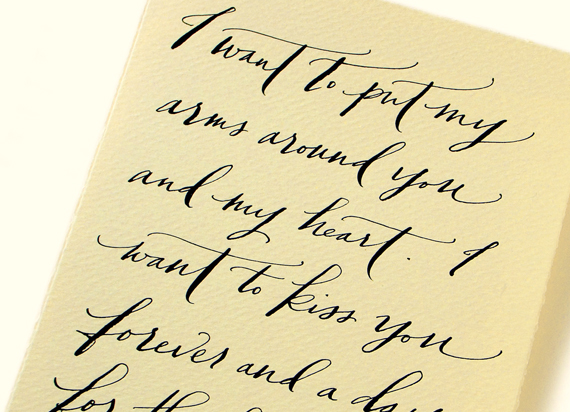 Your Words, Beautifully Hand Written Love Letter Transcriptions by - love letter