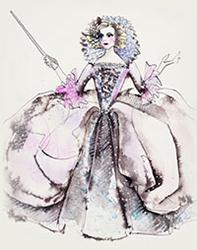 Fairy Godmother Sketch by Manhattan Wardrobe Supply