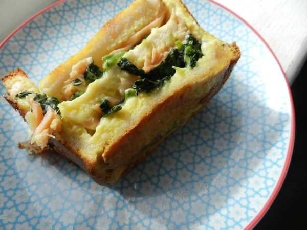 Croc cake saumon épinards