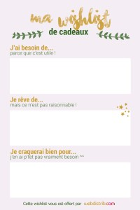 Wishlist Noël rose