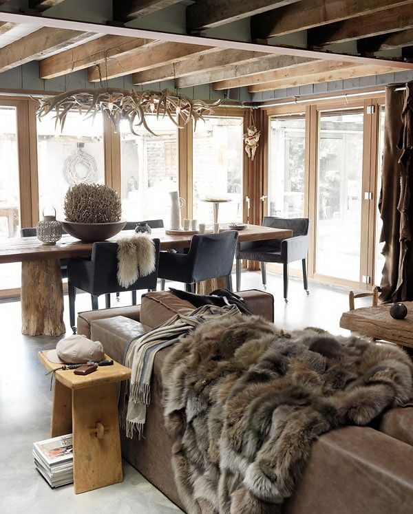 Decoration Interieur Appartement Montagne Chic Decor For The Ski Chalet | The Well Appointed House