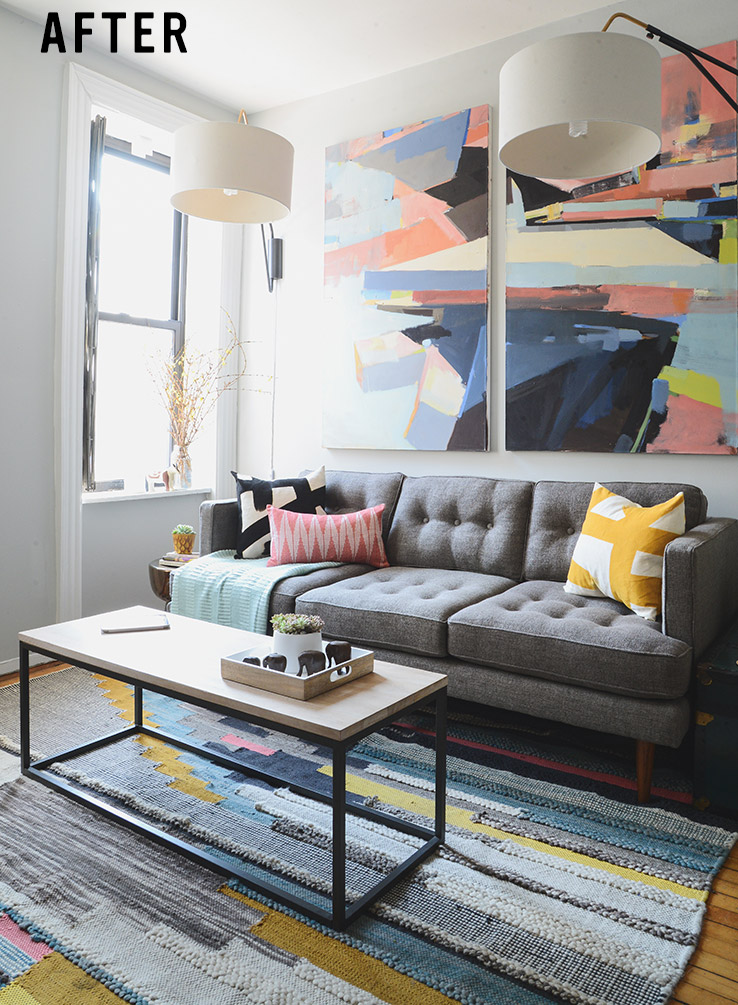 Small Mid-Century Living Room - small scale living room furniture