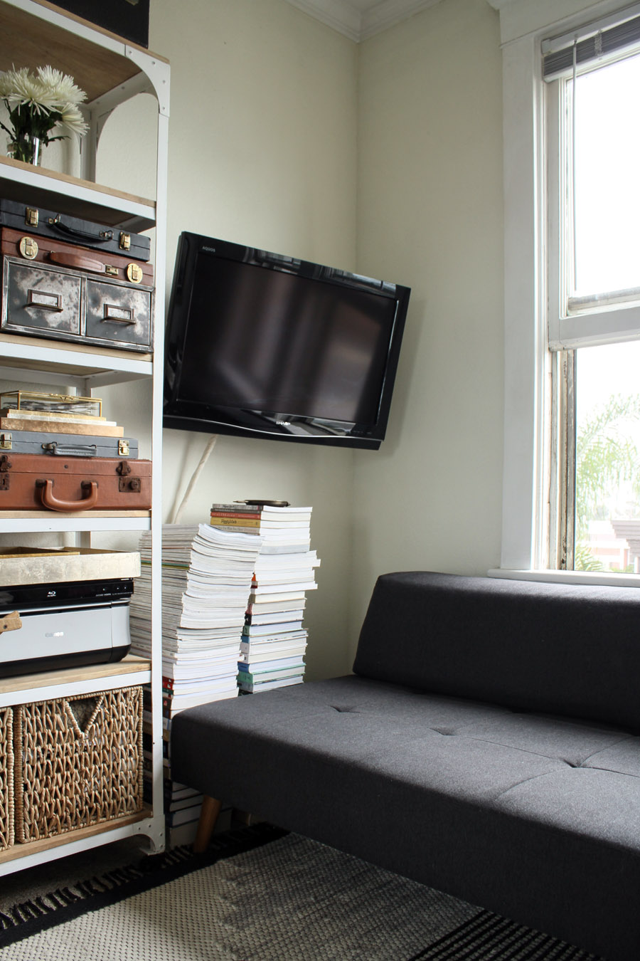 Retro Sofa Fitting A Home Into 200 Square Feet - Front + Main