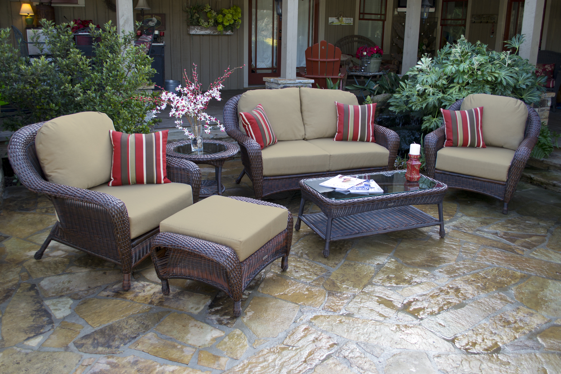 Using Outdoor Furniture Indoors Blog Wicker Home And Patio Furniture Ideas To Create The