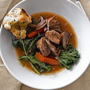 Pumpkin-Braised Pork with Greens