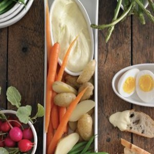 Garlic Aioli with Garden Vegetables