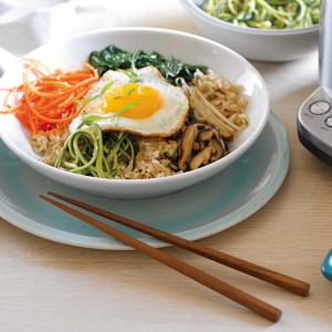 Vegetarian Bibimbap with Crispy Brown Rice