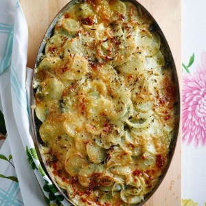 Spinach and Potato Gratin