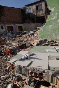 The rubble of a demolished in the Cristal community, Porto Alegre, Brazil.