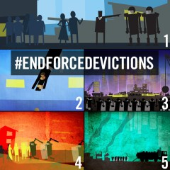 """Stills from """"Evict Them! In 5 Easy Steps""""."""