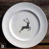 Speiseteller Grauer Hirsch von Gmundner Keramik