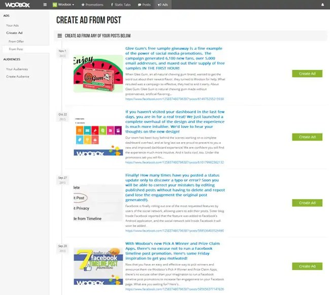 How to Create Facebook Ad Campaigns with Woobox! \u2013 Woobox Blog - sample advertising timeline